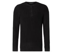 Pullover mit kurzer Knopfleiste