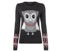 Pullover mit eingestricktem Motiv