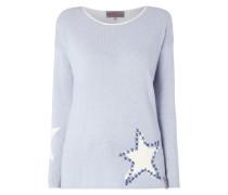 Pullover mit eingestricktem Sternenmuster