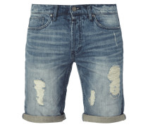 Destroyed Look 5-Pocket-Jeansbermudas