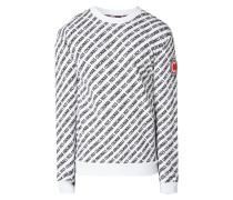Sweatshirt mit Logo-Muster