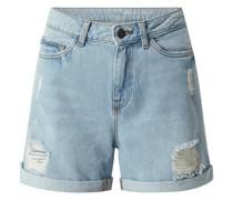 Jeansshorts aus Baumwolle Modell 'Smiley'
