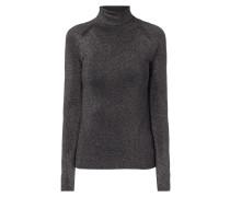 Rollkragen-Pullover mit Effektgarn