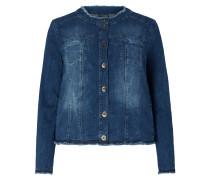 PLUS SIZE - Jeansjacke mit Stehkragen