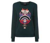 Sweatshirt mit Aufnäher und Effektgarn