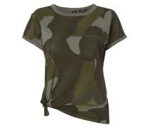T-Shirt mit Saum zum Binden