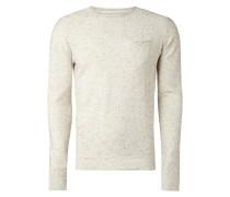 Pullover mit dekorativem Pilling-Effekt