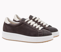 "Brunello Cucinelli Sneaker - Sneakers ""Jewel"" In Weichem Nubuk"
