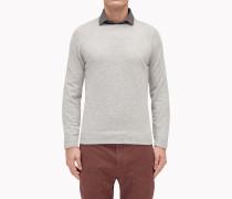 Brunello Cucinelli Pullover Mit Rundkragen - Pullover Im Sweatshirt-Stil Aus Schurwolle, Kaschmir Und Seide
