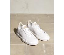 Sneakers aus halbglänzendem Kalbsleder