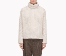 """Brunello Cucinelli Pullover Mit Stehkragen - Pullover """"Cashmere Fur"""" In Rippenstrick"""