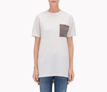 """Brunello Cucinelli Pullover Mit Rundkragen - T-Shirt """"Suede Pocket"""" Aus Kaschmir"""