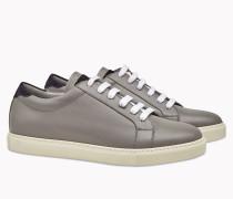 Brunello Cucinelli Sneaker - Sneakers Aus Halbglanz-Kalbleder Und Veloursleder