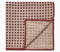 Brunello Cucinelli Pochette - Einstecktuch Aus Wolle Und Seidenbouclé Mit Eingefasstem Pois-Muster