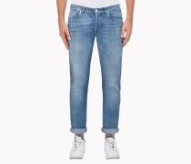 Brunello Cucinelli Jeanshosen -  Five-Pocket-Hose Aus Leichtem Denim, Slim Fit