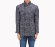 Brunello Cucinelli Mantel - Unstrukturiertes, Eineinhalb-Reihiges Outerwear In Chevron Aus Wolle Und Kaschmir