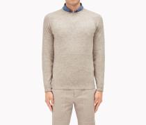 """Brunello Cucinelli Pullover Mit Rundkragen - Pullover Im Sweatshirt-Stil Aus Kaschmir In """"Tweed-Optik"""