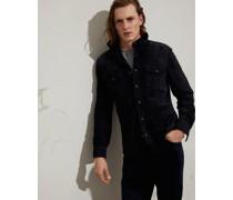 Jacke im Hemdenstil aus Doubleface-Veloursleder