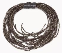 Brunello Cucinelli Halskette - Halskette Open Choker Aus Schwarzem Glas