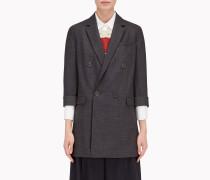Brunello Cucinelli Blazer - Zweireiher-Jacke In Flanell Mit Prince-Of-Wales-Design Aus Stretch-Wolle