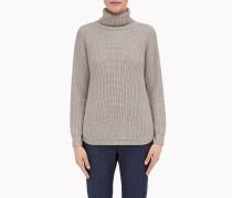 Brunello Cucinelli Pullover Mit Stehkragen - Pullover Mit Hohem Kragen Aus Wolle, Kaschmir Und Diamant-Seide