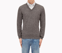 """Brunello Cucinelli Pullover Mit V-Ausschnitt - Pullover Mit V-Ausschnitt Aus Kaschmir In """"Tweed-Optik"""