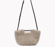 """Brunello Cucinelli Tasche - Shoppertasche Aus Shearling """"Frosty Effect"""" Mit Detail Aus Metallfäden"""