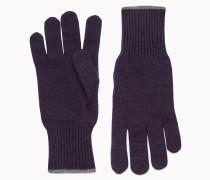 Brunello Cucinelli Handschuhe - Handschuh Aus Strick-Kaschmir Mit Randstreifen
