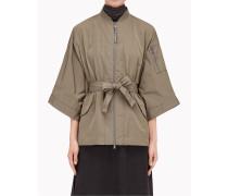 Brunello Cucinelli Jacke & Mantel - Outdoor-Jacke Aus Taft Mit Detail Aus Metallfäden