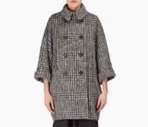 Brunello Cucinelli Mantel - Zweireihige Outdoor-Jacke Mit Prince-Of-Wales-Design In Wolle Und Alpaka