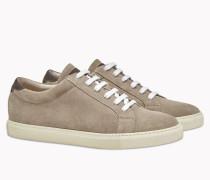 Brunello Cucinelli Sneaker - Sneakers Aus Veloursleder Und Kalbleder Mit Körnung