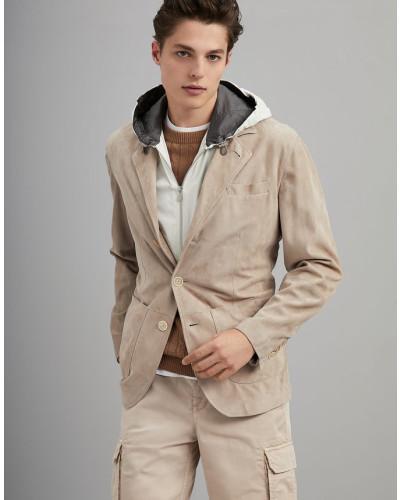 Jacke aus nappiertem Veloursleder
