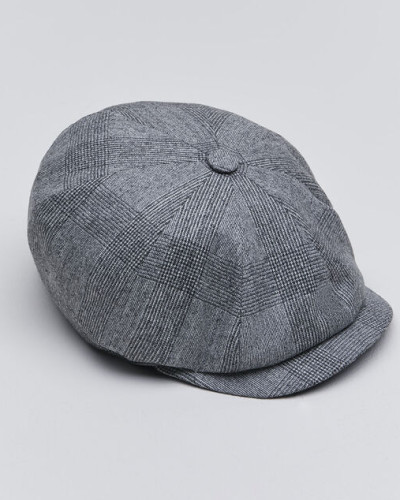 Mütze in Prince-of-Wales-Karo aus Schurwollflanell