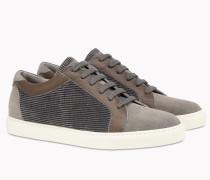 Brunello Cucinelli Sneaker - Sneakers Aus Samt, Veloursleder Und Kalbleder Mit Körnung