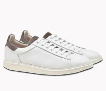 Brunello Cucinelli Sneaker - Sneakers Lux In Kalbleder Mit Körnung Und Veloursleder