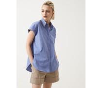 Bluse aus gestreifter Popeline in Baumwolle