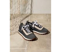 Sneaker aus Sparkling Baumwollstrick