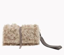 """Brunello Cucinelli Tasche - City Wallet In Shearling """"Wavy"""""""