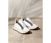 Sneakers aus Veloursleder und Techno-Stoff