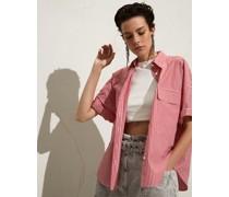 Bluse aus gestreifter Baumwollpopeline