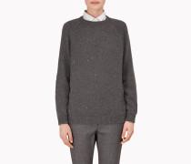 Brunello Cucinelli Pullover Mit Rundkragen - Travelwear-Pullover Aus Kaschmir Und Diamant-Seide Mit Wildlederbesätzen