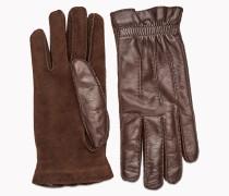Brunello Cucinelli Handschuhe - Lederhandschuhe Mit Strickfutter Aus Kaschmir