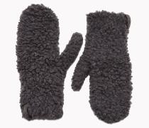 Brunello Cucinelli Handschuhe - Strick-Handschuhe Aus Pelz-Kaschmir Mit Metallfäden