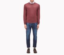 Brunello Cucinelli Pullover Mit Rundkragen - Leichter Rundhals-Pullover Aus Wolle Und Kaschmir Mit Aufnähern