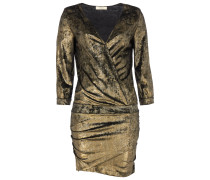 Ba&sh GALAXIE Kleid aus Metallic-Velvet in Gold