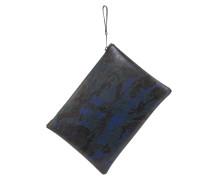 Dokumenten-Case Camouflage-Look in Blau