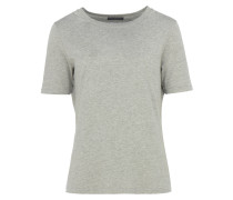 ANIS Basic T-Shirt in Hellgrau meliert