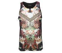 Tanktop mit buntem All-Over Print