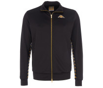 Trainingsjacke Schwarz Gold