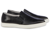 CRUST SHINY BLACK spitzre Slip-On Schwarz